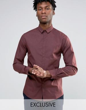 Noak Меланжевая облегающая рубашка. Цвет: коричневый