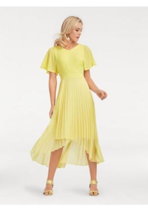 Коктейльное платье ASHLEY BROOKE by Heine. Цвет: желтый