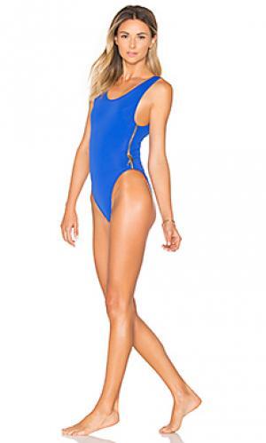 Слитный купальник zissou OYE Swimwear. Цвет: синий