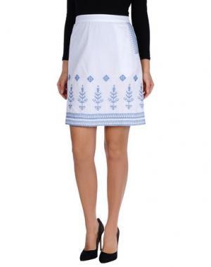 Юбка до колена NICE THINGS BY PALOMA S.. Цвет: белый
