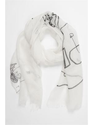 Палантин Moltini. Цвет: белый