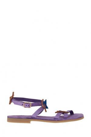Фиолетовые сандалии Wovenplay От Стеллы Аминовой. Цвет: фиолетовый