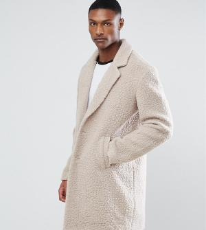 ASOS Светло-бежевое пальто из искусственного меха TALL. Цвет: бежевый