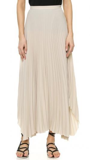 Плиссированная юбка Helmut Lang. Цвет: светло-бежевый