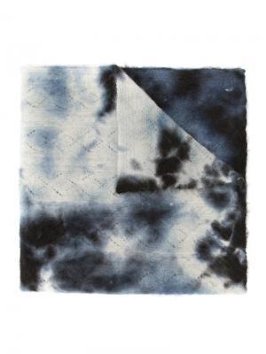 Шарф с абстрактным принтом Suzusan. Цвет: синий