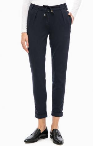 Укороченные брюки чиносы с отворотами rich&royal. Цвет: синий