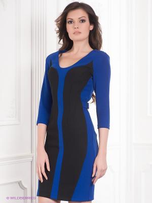 Платье BOVONA. Цвет: синий, черный