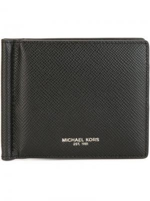 Бумажник с золотистым логотипом Michael Kors. Цвет: чёрный