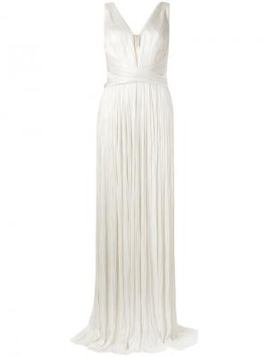 Pleated gown Maria Lucia Hohan. Цвет: телесный