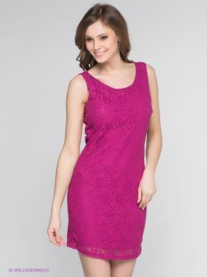 Платье Vero moda. Цвет: фуксия