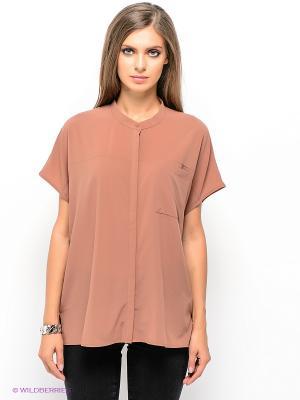 Блузка SELECTED. Цвет: коричневый