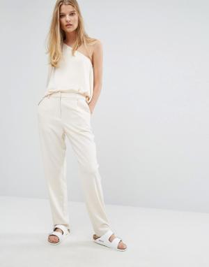 Samsøe & Кремовые брюки Samsoe. Цвет: кремовый