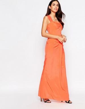 VLabel London Платье макси Peck. Цвет: розовый