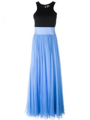 Расклешенное платье Fausto Puglisi. Цвет: синий