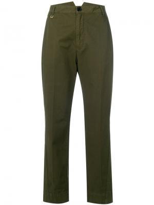 Укороченные брюки Play Zadig & Voltaire. Цвет: зелёный