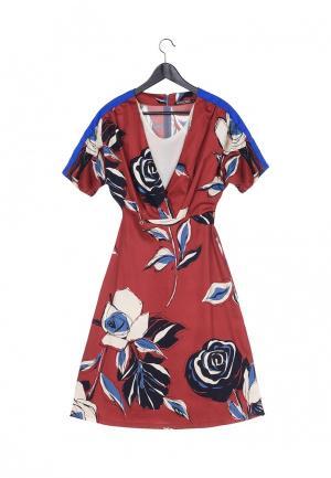 Платье Artwizard. Цвет: бордовый