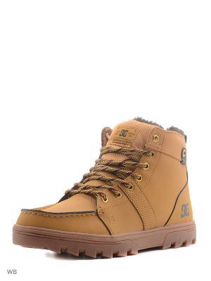 Ботинки DC Shoes. Цвет: оранжевый