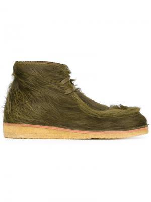 Ботинки на шнуровке Tomas Maier. Цвет: зелёный