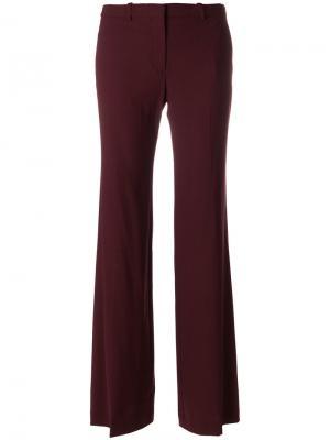 Расклешенные брюки Theory. Цвет: красный