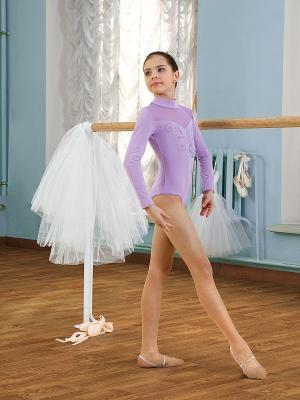 Купальник спортивный (боди) для девочек Arina Ballerina. Цвет: лиловый