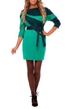 Платье Gloss. Цвет: зеленый, темно-зеленый