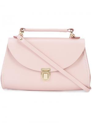 Сумка через плечо с портфельной застежкой The Cambridge Satchel Company. Цвет: розовый и фиолетовый