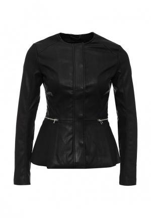 Куртка кожаная LOST INK. Цвет: черный
