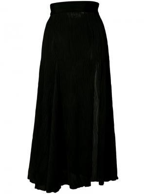 Плиссированная юбка Prabal Gurung. Цвет: чёрный
