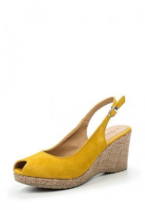 Босоножки Tamaris. Цвет: желтый