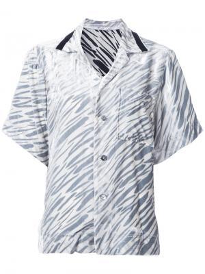 Бархатная рубашка с короткими рукавами G.V.G.V.. Цвет: белый