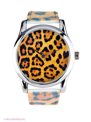 Часы Mitya Veselkov. Цвет: светло-коричневый, светло-желтый, темно-серый
