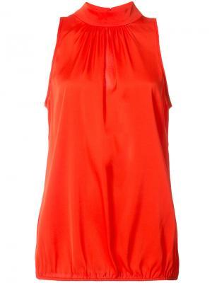 Блузка с высокой горловиной Trina Turk. Цвет: красный