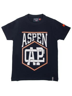 Футболка Aspen Polo Club. Цвет: синий