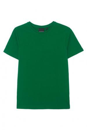 Хлопковая футболка BLANK.MOSCOW. Цвет: зеленый