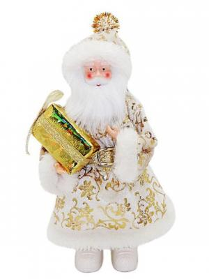 Кукла Дед Мороз 20 см под елку, золото Новогодняя сказка. Цвет: золотистый, белый