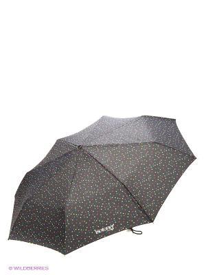Зонт Isotoner. Цвет: белый, голубой, желтый, сиреневый, черный