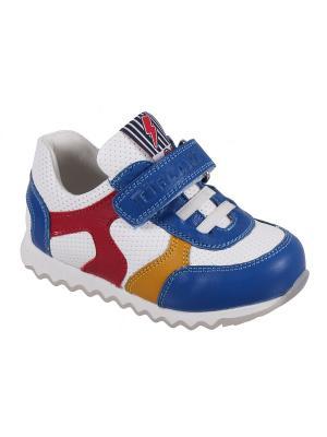 Детская обувь TIFLANI. Цвет: голубой, белый