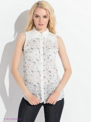 Блузка Wrangler. Цвет: белый