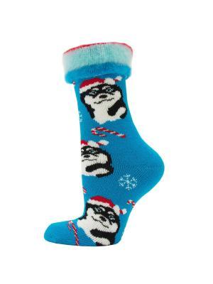 Новогодние носки HOSIERY. Цвет: бирюзовый