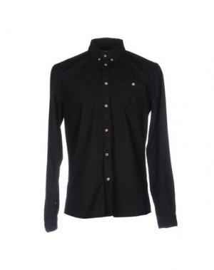 Джинсовая рубашка !SOLID. Цвет: черный