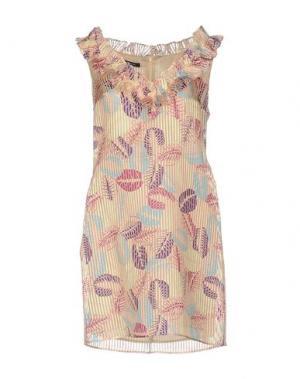 Короткое платье PAOLA FRANI. Цвет: розовый