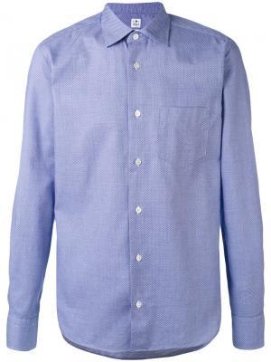 Классическая рубашка Danolis. Цвет: синий