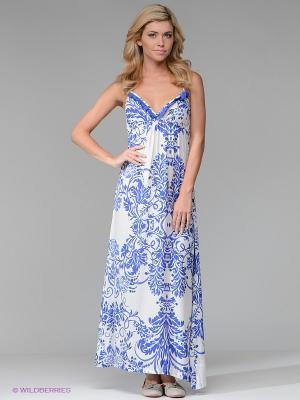 Платье CATHERINE'S. Цвет: синий, белый