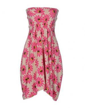 Короткое платье MINA. Цвет: розовый