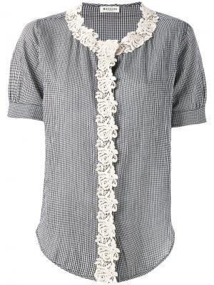 Рубашка с окантовкой макраме Masscob. Цвет: синий