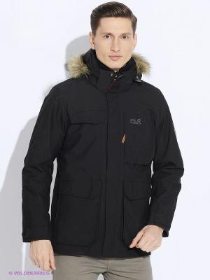 Куртка POSTVILLE TEXAPORE PAR M Jack Wolfskin. Цвет: черный