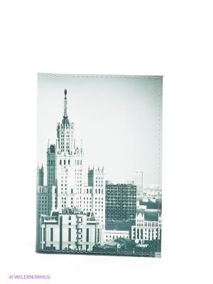Обложка для паспорта Mitya Veselkov. Цвет: белый, серо-зеленый