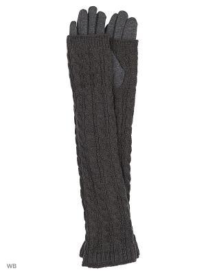 Перчатки со съемными митенками Migura. Цвет: серый
