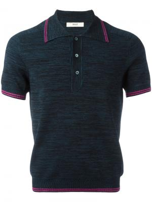Рубашка-поло Bally. Цвет: синий