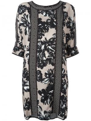 Платье шифт с панельным дизайном Steffen Schraut. Цвет: чёрный